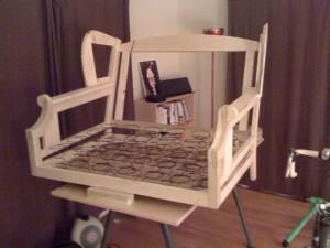 un upholstered furniture frame